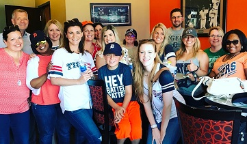 Austin Team at Tigers Game